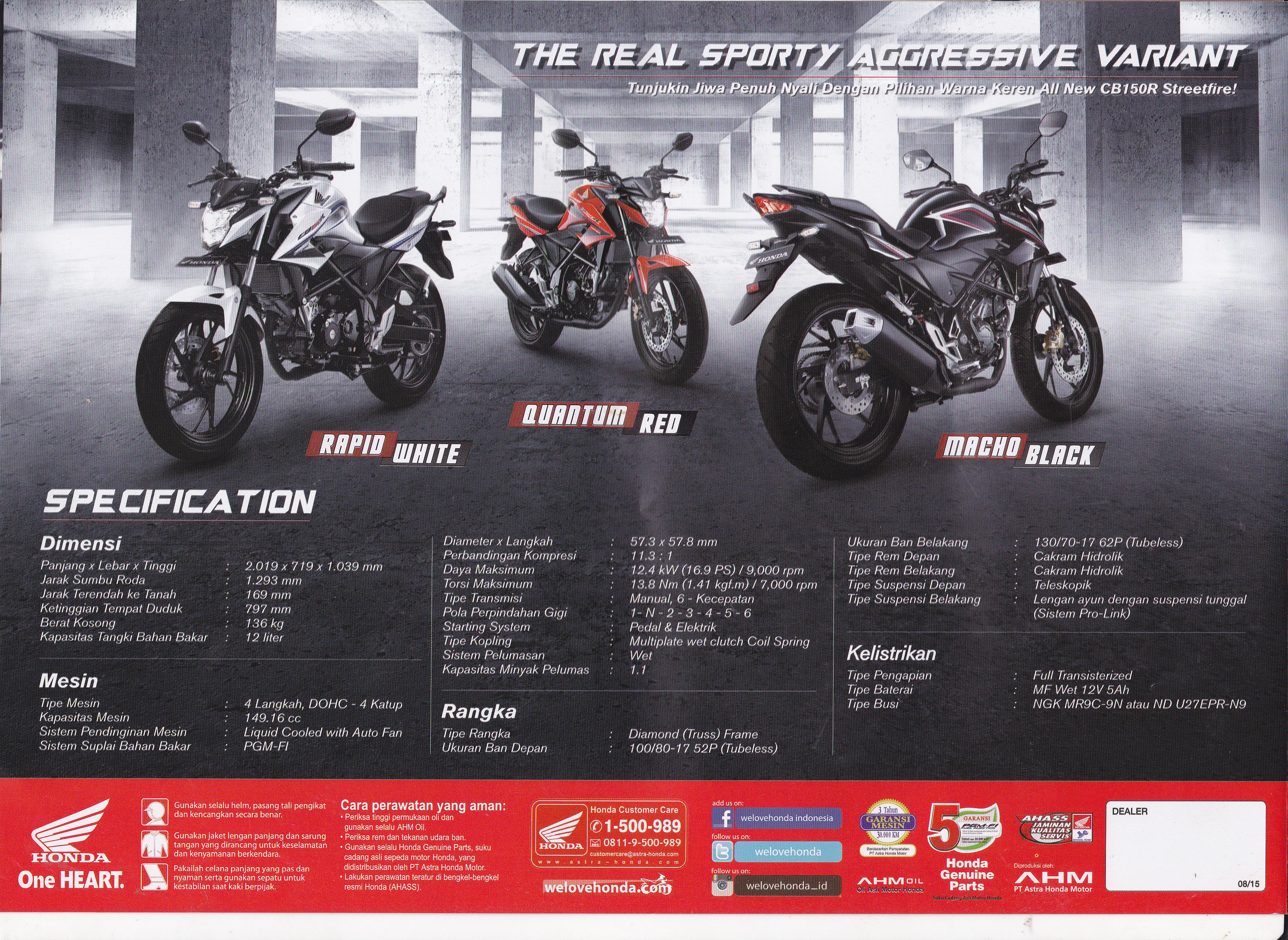 Streetfire All New Cb 150r Honda Racing Red Kendal Cb150r5 0001