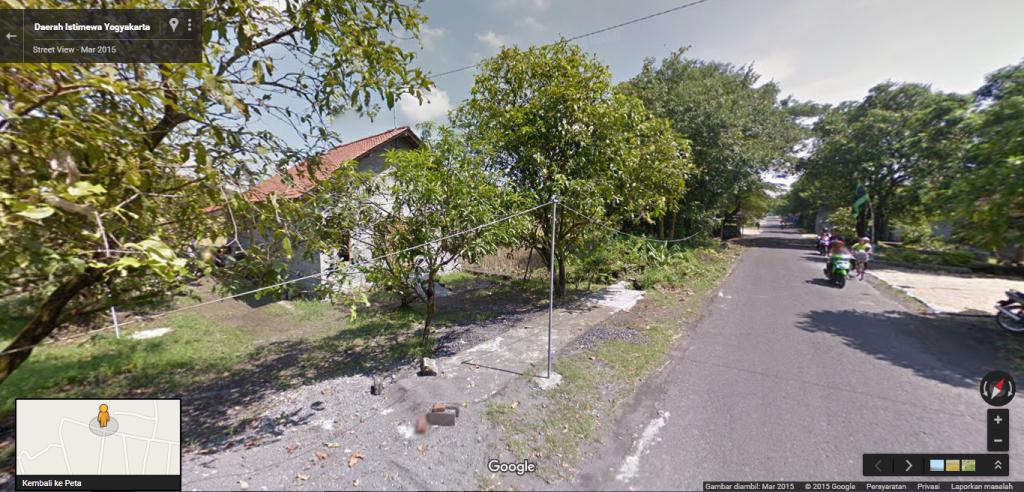 Rumah mbak Rani terpantau kamera street view